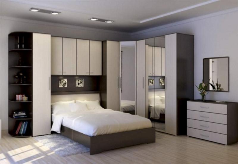 угловая корпусная  мебель для спальни