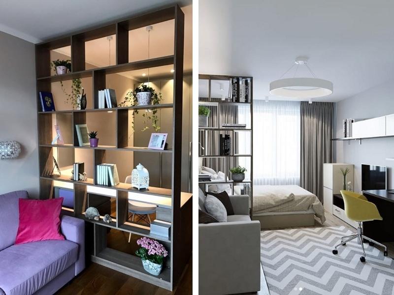 Зонирование однакомнатной квартиры