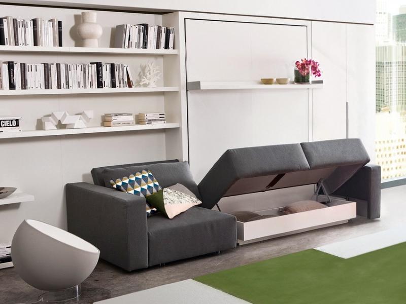 кровать трансформер в однокомнатной квартире