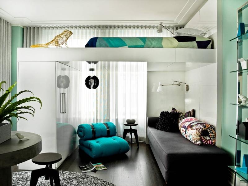 кровать чердак в однокомнатной квартире