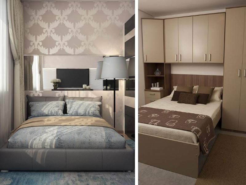 Дизайн корпусной мебели для маленькой спальни