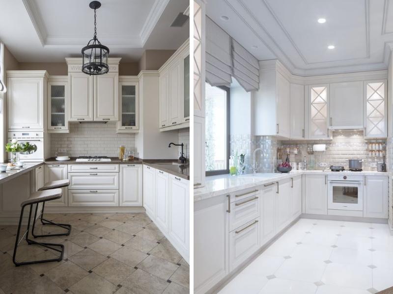 Угловая кухня в классическом стиле